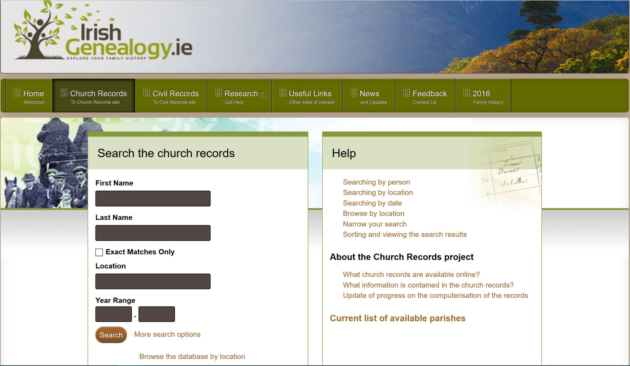 British, Irish, Scottish, Welsh Genealogy Research Guide, IrishGenealogy.ie