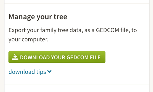 How to move your family tree, download your GEDCOM