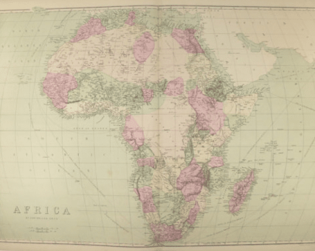 Genealogy Father's Day Gifts, antique map of Africa