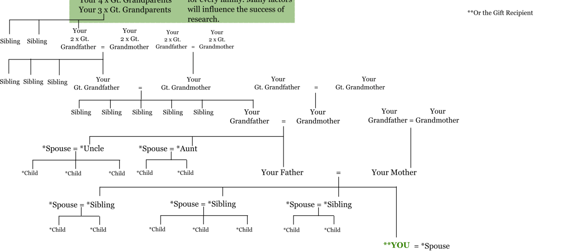 One Surname Family History Tree example