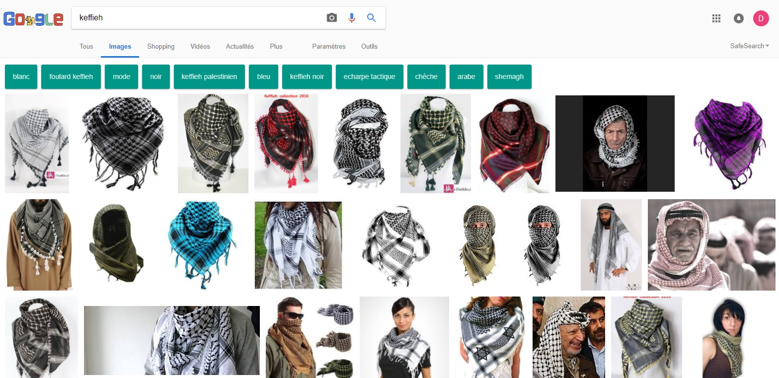 "search of""keffiyeh"""