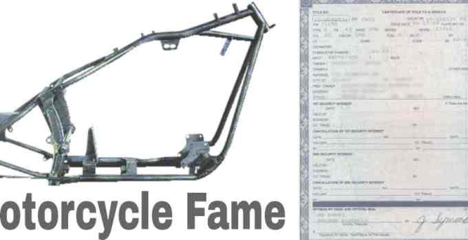 how to get a title for a motorcycle frame