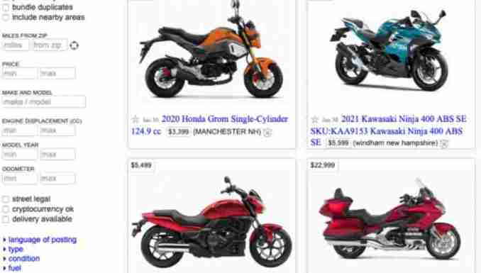 How to protect yourself when selling a motorcycle on CL