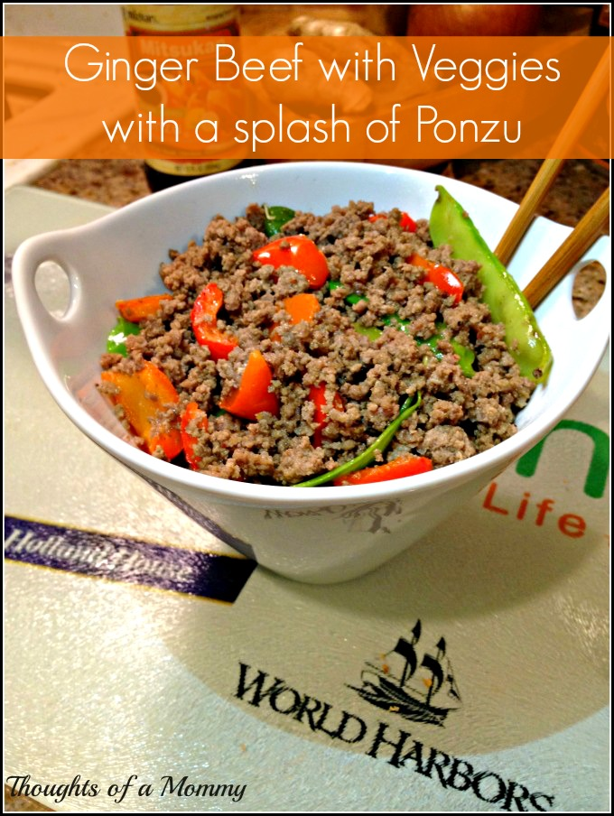 Ginger Beef with Veggies and a splash of Ponzu