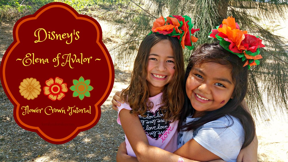 Elena of Avalor DIY Flower Crowns (Video)
