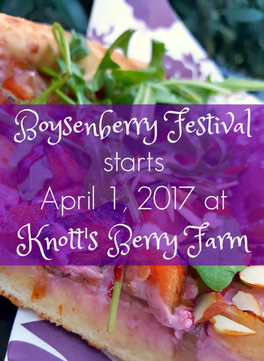 Boysenberry Festival starts April 1, 2017 at Knott's Berry Farm