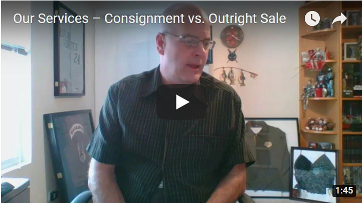 Our services, consignment versus outright sale