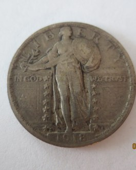 Rare key date silver standing liberty quarter 1918s XF condition