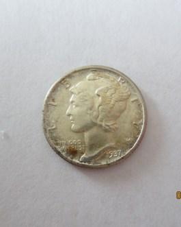 Sharp BU Condition 1937 mercury silver dime nice eye appeal