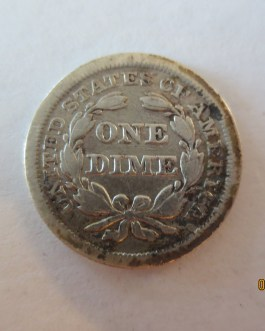 Rare key date Fine Condition 1841  Silver Seated Dime nice