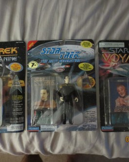 Original 1990's Unopened Star Trek Figures Commander Data Chief O'Brien Talaxian