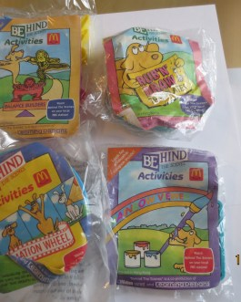 McDonald's 1992 Behind the Scenes Activities Lot of 4 sealed new in package