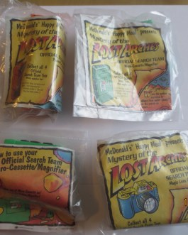 McDonald's 1991 Mystery of the Lost Arches Motion Happy Meal Toys NEW