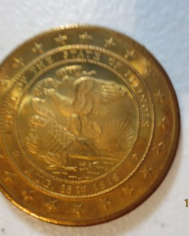 BU Commemorative 1818-1968 Bronze State Illinois Sesquicentennial medal