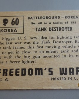 Rare Original 1950 Topps  Freedom's War cards # 60 high grade nice
