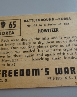 Rare Original 1950 Topps  Freedom's War cards # 65 high grade nice