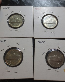 4 piece uncirculated lot 1943s Jefferson Silver war nickels nice