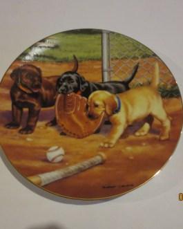 Robert Christie Hamilton Collection Baseball Pups collectors plate nip