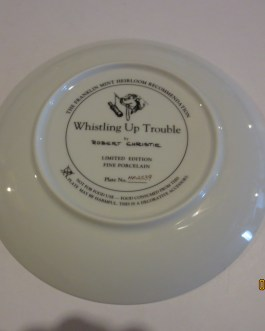 Robert Christie Franklin Mint Dogs & Ducks collectors plate Whistling Up Trouble nip