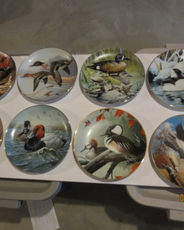8 piece set Hamilton Collection North American Ducks Rod Lawrence collectors plates w coa nip