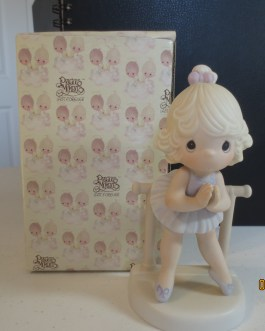 Vintage in box Precious Moments figurine #100129 Lord keep me on my toes 1985