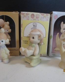 3 different in box Precious Moments figurines #15822, 522856, 521175 Hello World