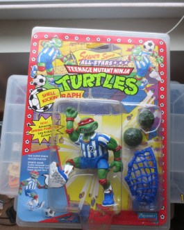Teenage Ninja Turtles TMNT Sewer Sports All Stars SHELL KICKIN' RAPH MOC 1991
