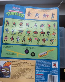 TMNT Ninja Turtles ROCK N ROLL PUNKER DON DONATELLO MOC 1991 UNPUNCHED RARE