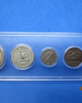 1944 Silver year set Walking Half Washington Quarter Mercury dime & more c