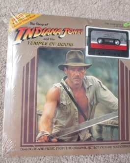 The Story Of Indiana Jones And The Temple Of Doom Cassette Tape & Book- Sealed b