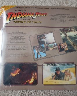 The Story Of Indiana Jones And The Temple Of Doom Cassette Tape And Book- Sealed