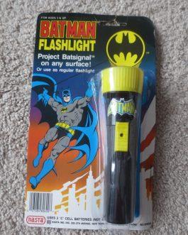 1989 Nasta Batman Flashlight Projects Bat Signal NIP MOC