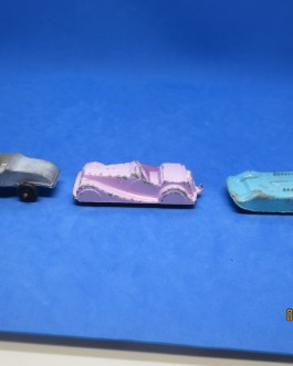 lot 3 VINTAGE MIDGETOY Cars Futuristic 1950's HOT ROD & Pink Roadster