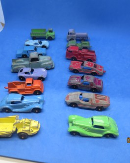 Vintage Lot 15 Tootsie Toy Die Cast Metal Cars Trucks