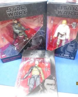 3 Star Wars Black series figures mib Jyn Erso Kanan Jarrus Luke Skywalker nice 6″