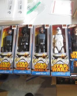 7 piece lot Star Wars figures Darth Vader Kallus Finn Anakin Clone trooper MIB