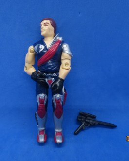VINTAGE 1985 G.I. JOE Xamot CRIMSON GUARD COBRA FIGURE W GUN SOLID