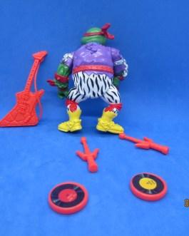 1991 Heavy Metal RAPH Vintage TMNT Rockn Rollin Turtles Playmates Complete