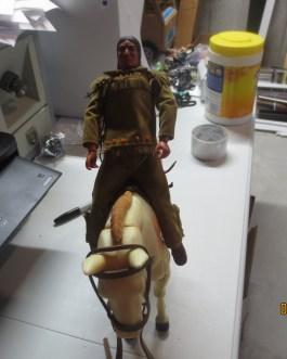 Gabriel 1973 Lone Ranger Tonto & Horse Scout Action Figure Set