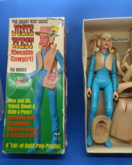omplete Vintage JOSIE WEST Marx Movable Cowgirl 1067A Box Johnny