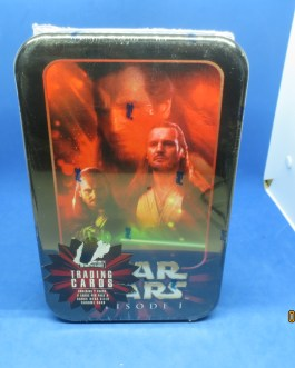 STAR WARS Episode 1 Topps Wide Vision Trading Cards w Tin Still MISB