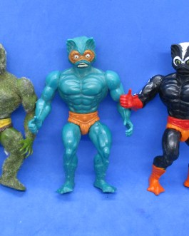 3 Vintage MOTU Masters of the Universe figures Moss Man Mer-Man & Stinkor