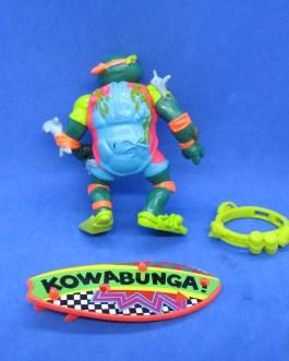 TMNT Vintage Michelangelo Mike Sewer Surfer Playmates 1990