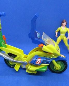 vintage TMNT April O'Neil stripe w/ News Cycle, ninja turtles action figure