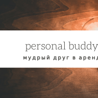 PERSONAL BUDDY: WISE FRIEND FOR RENT