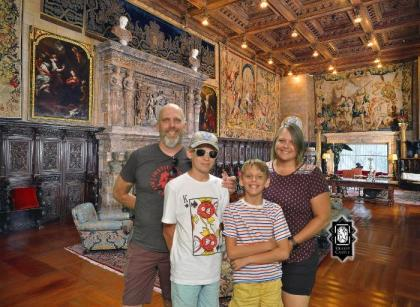 Honea family at Hearst Castle