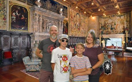Honea family at Hearst Castle