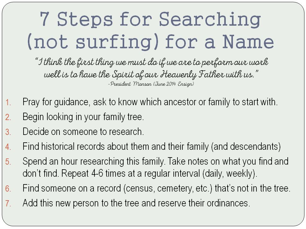 7 steps to searching_not surfing