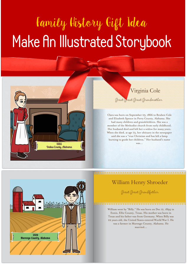 Make An Illustrated Storybook of Ancestors