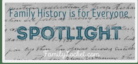 Family History is for everyone spotlight aqua